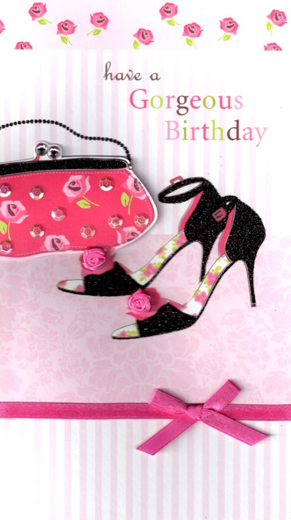 Bags Shoes Gorgeous Birthday Greeting Card