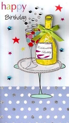 Bubbly Pretty Happy Birthday Greeting Card