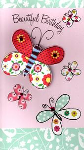 Beautiful Butterfly Birthday Greeting Card