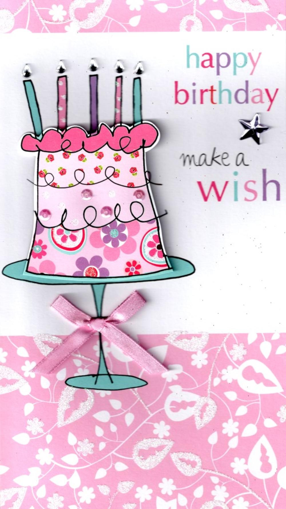 Make A Wish Happy Birthday Greeting Card