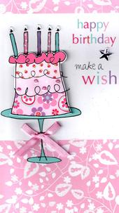 Make A Wish Happy Birthday Greeting Card