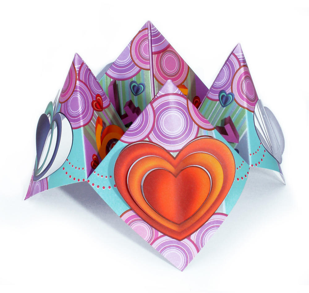 Love Hearts Chatterbox Greeting Card