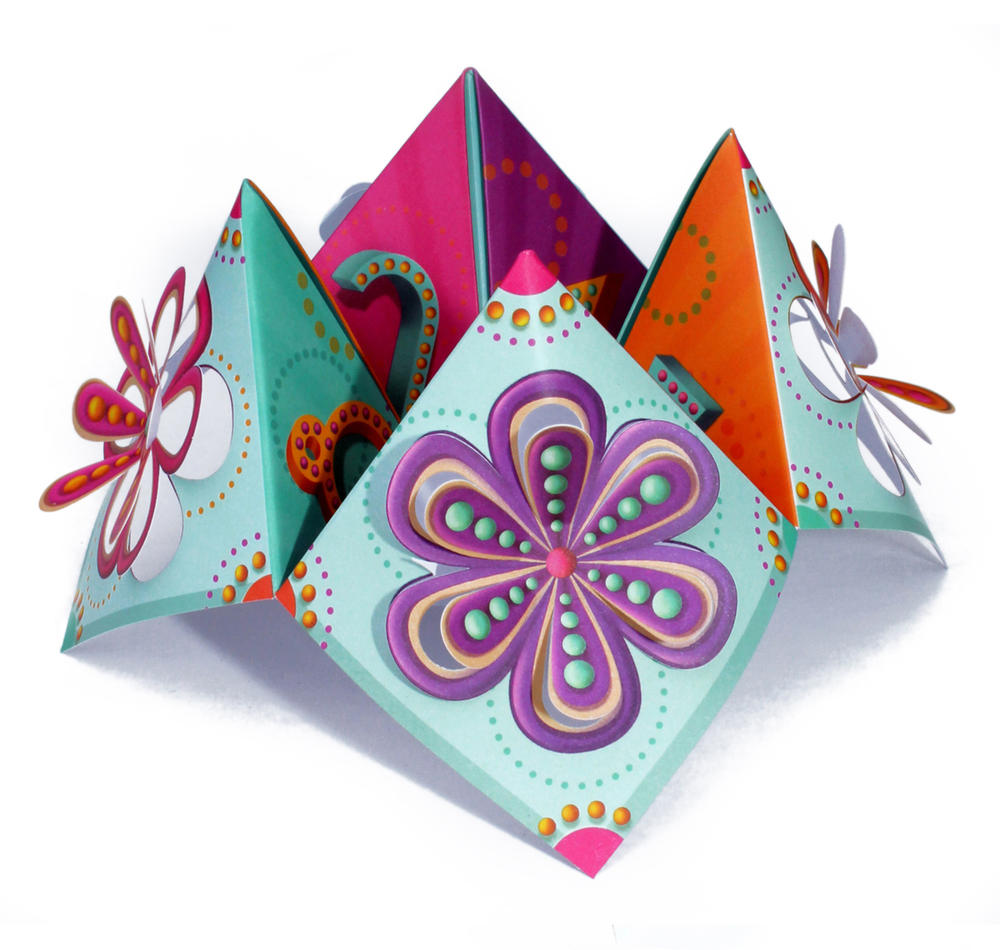Flowers Chatterbox Greeting Card