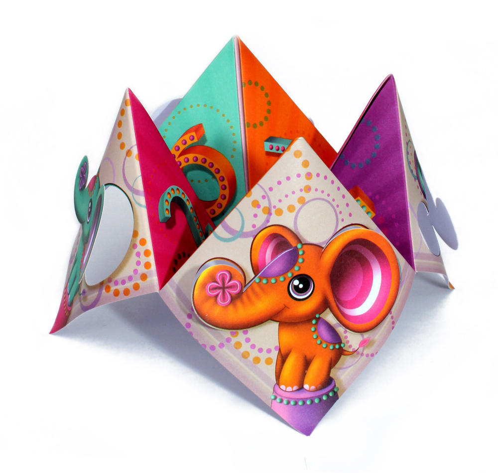 Elephants Chatterbox Greeting Card