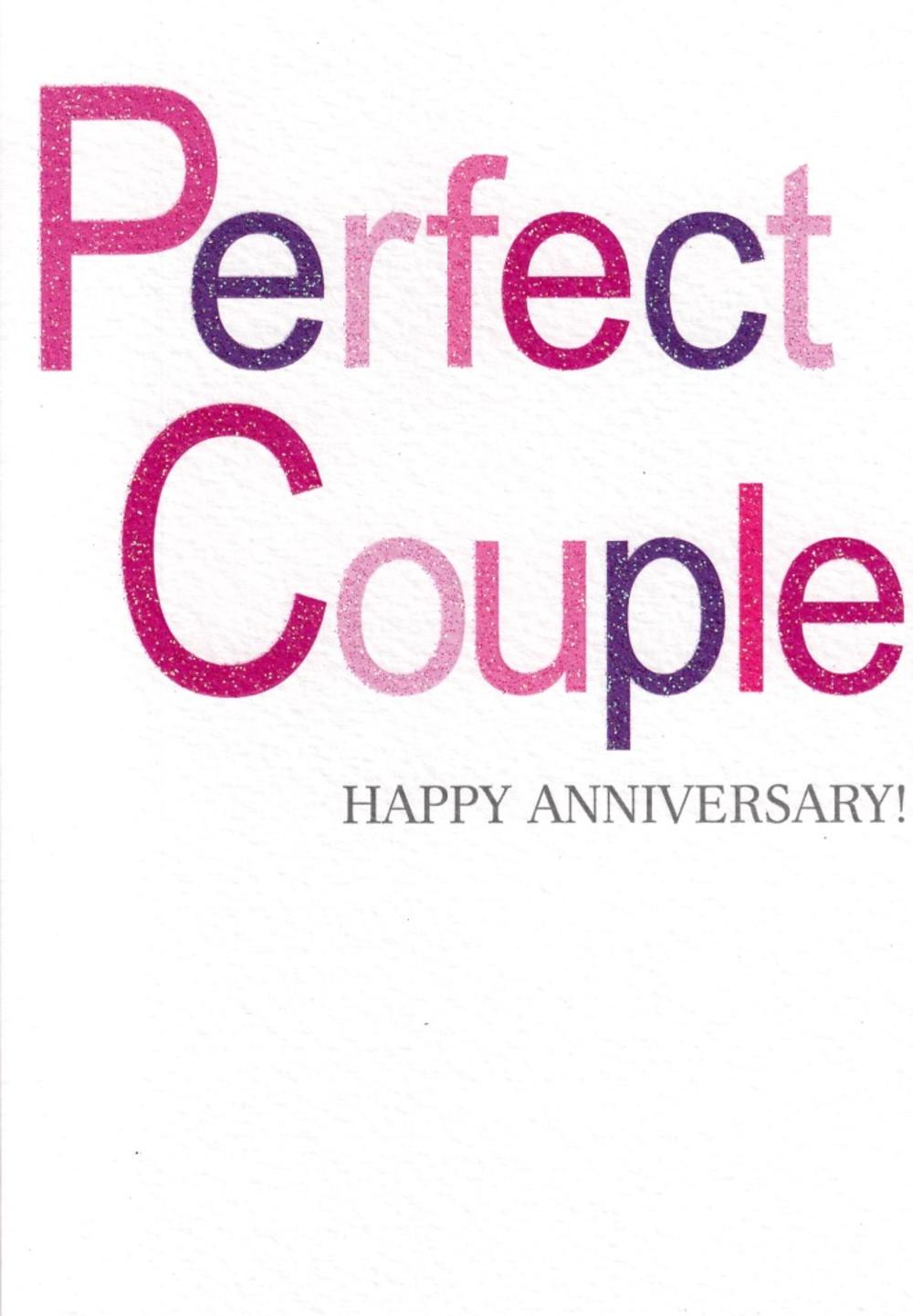 Perfect Couple Happy Anniversary Greeting Card