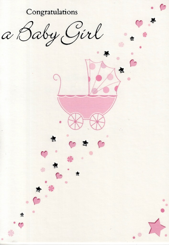 Congratulations a new baby girl greeting card cards love kates congratulations a new baby girl greeting card m4hsunfo Choice Image