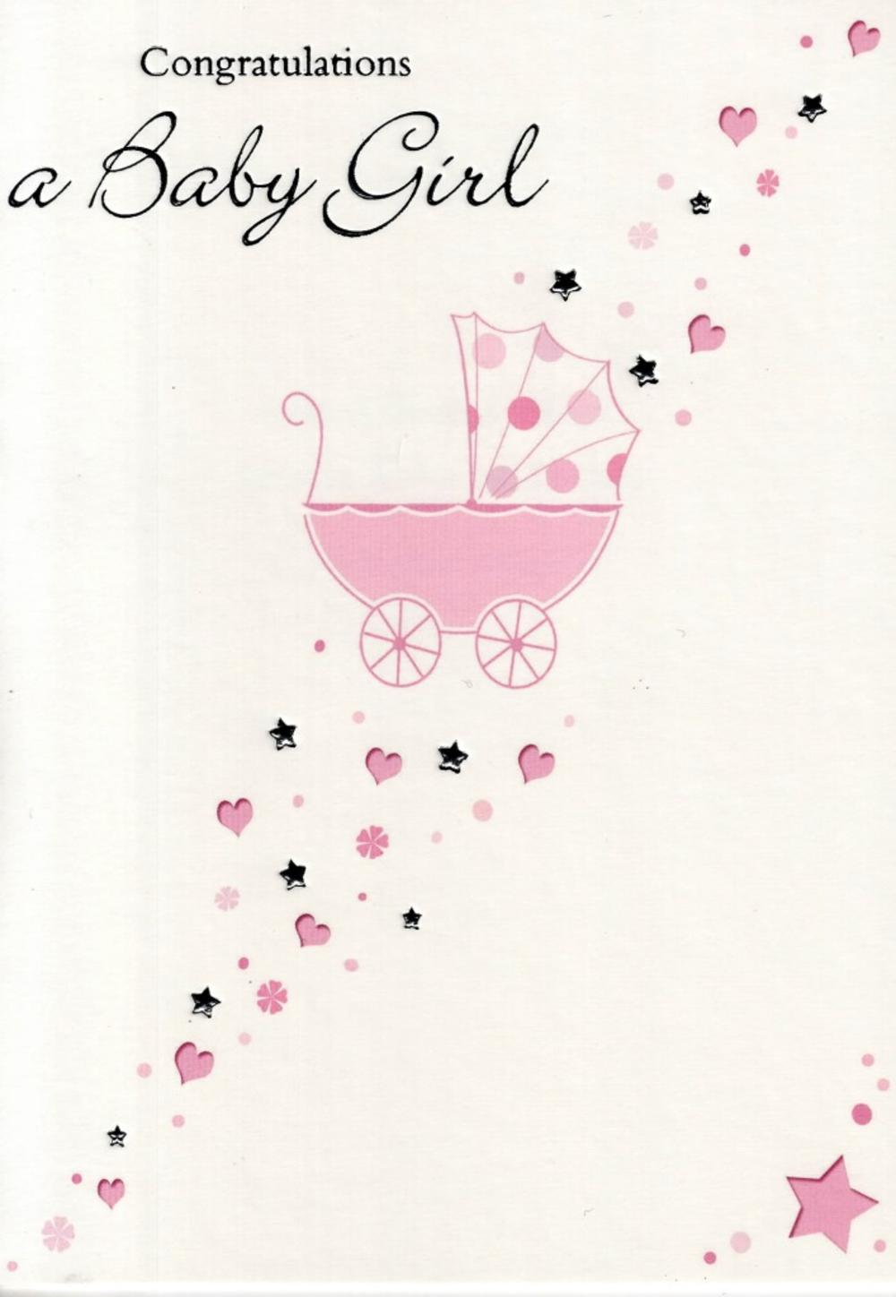 Congratulations a new baby girl greeting card cards love kates congratulations a new baby girl greeting card kristyandbryce Images
