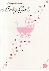 Congratulations A New Baby Girl Greeting Card