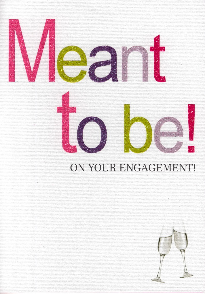 Meant to be engagement greeting card cards love kates meant to be engagement greeting card m4hsunfo