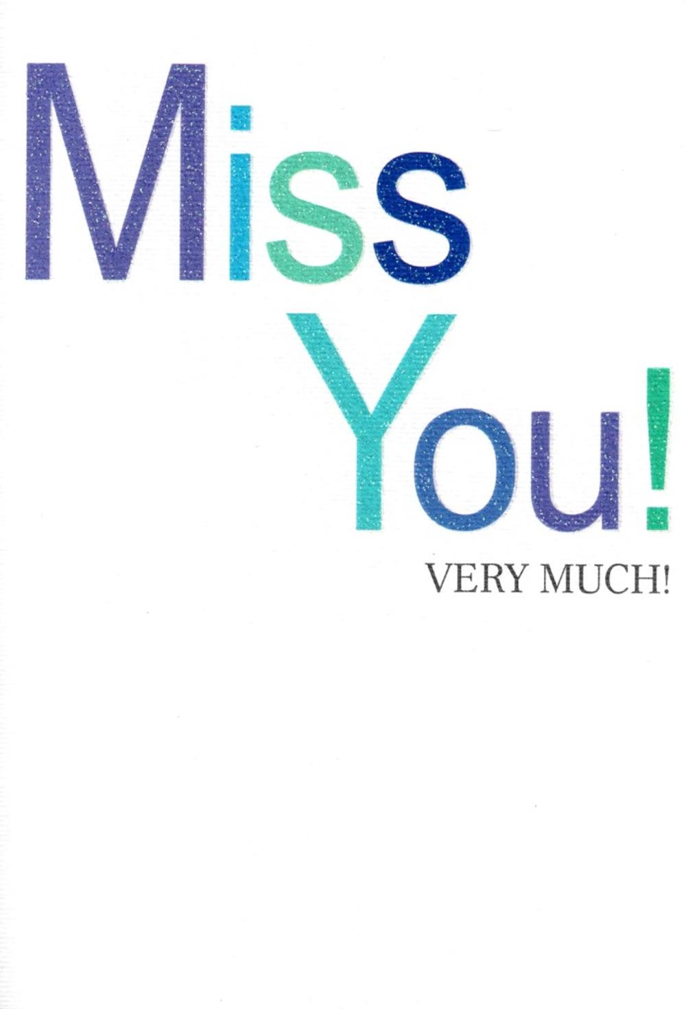 Miss You Very Much Greeting Card Simple Cards Blank