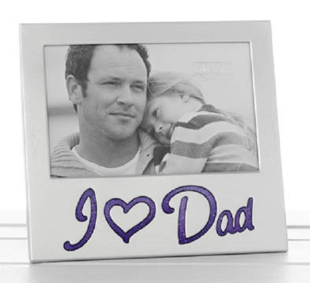 "I Love Dad Glitter Word Aluminium Photo Frame 6"" x 4"""