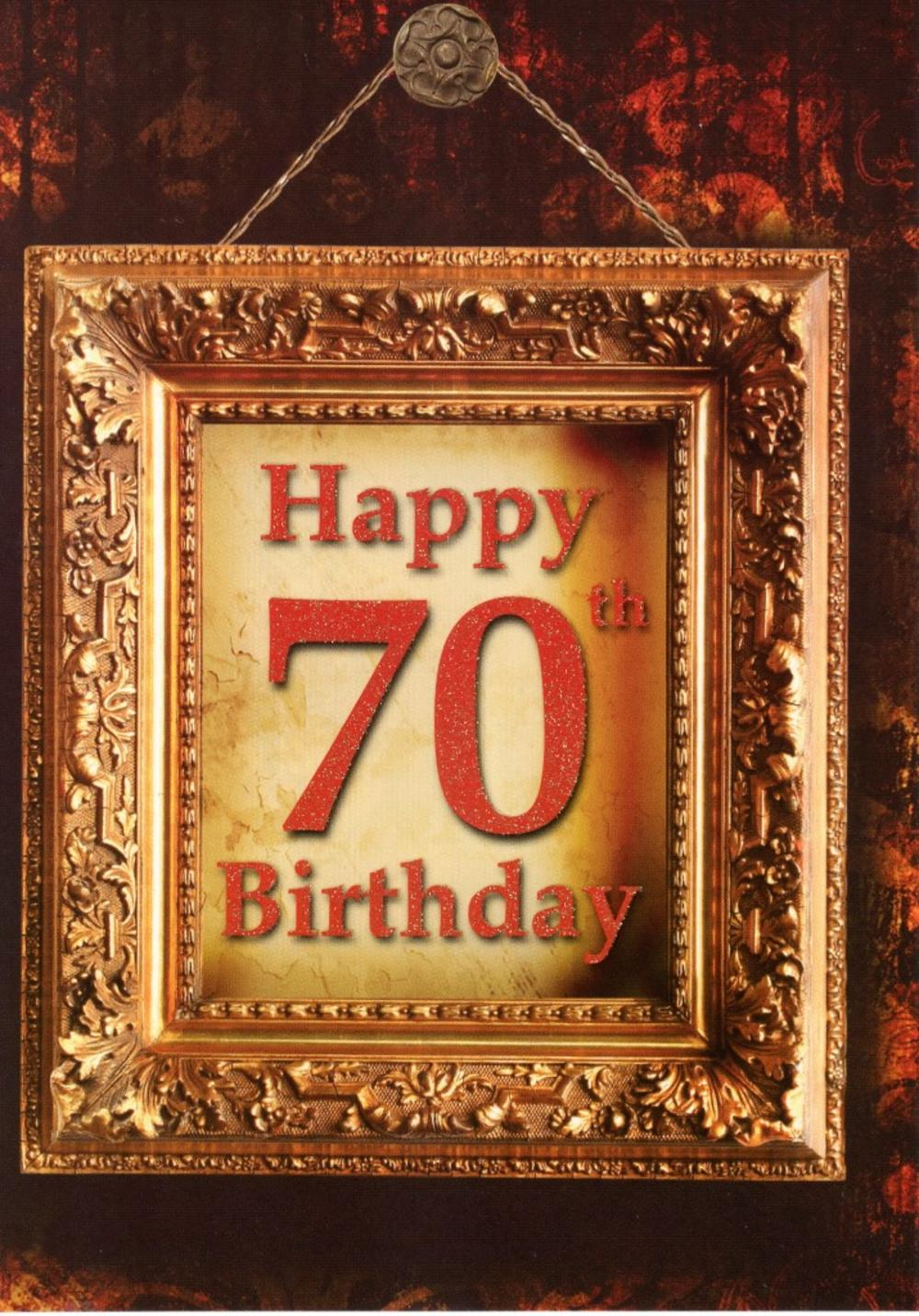Happy 70th Birthday Greeting Card Blank Inside