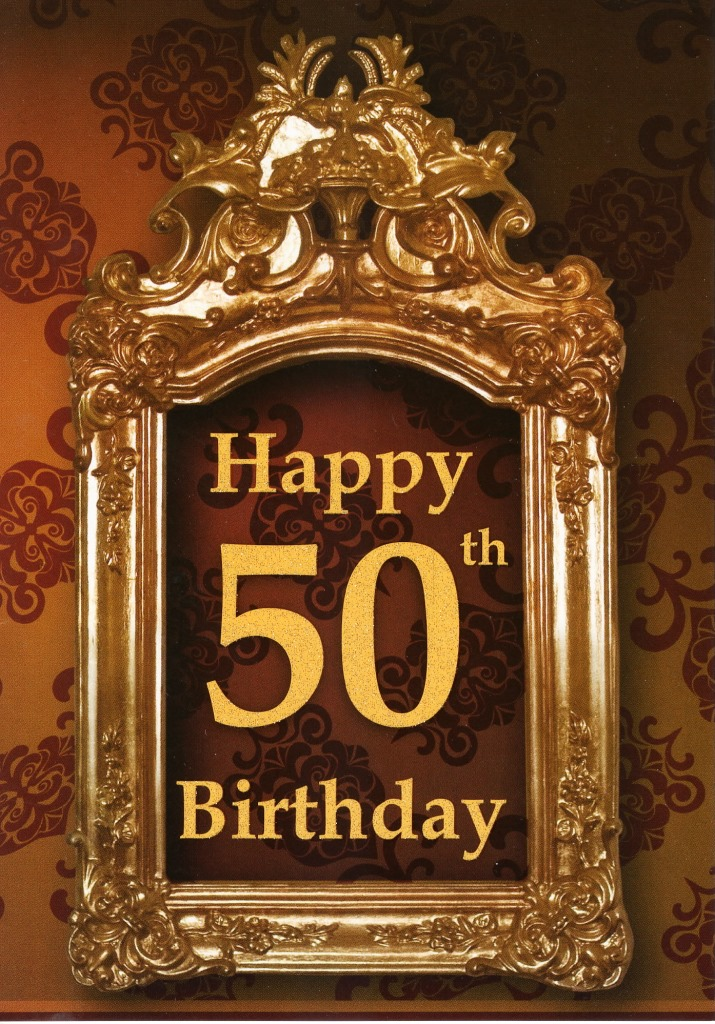Happy 50th Birthday Greeting Card Cards – Greeting Cards for 50th Birthday