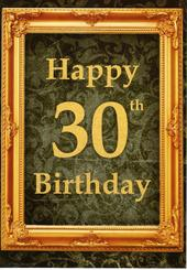 Happy 30th Birthday Greeting Card