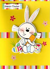Happy Easter Cute Easter Bunny Rabbit Card