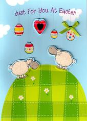 Just For You At Easter Cute Sheep Card