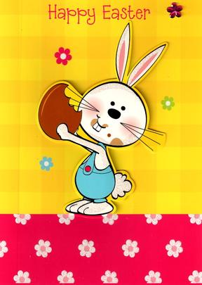 Happy Easter Cute Easter Bunny Card