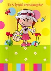 To A Special Granddaughter Cute Easter Card
