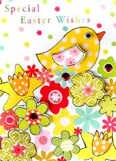 Special Easter Wishes Cute Chick Easter Card