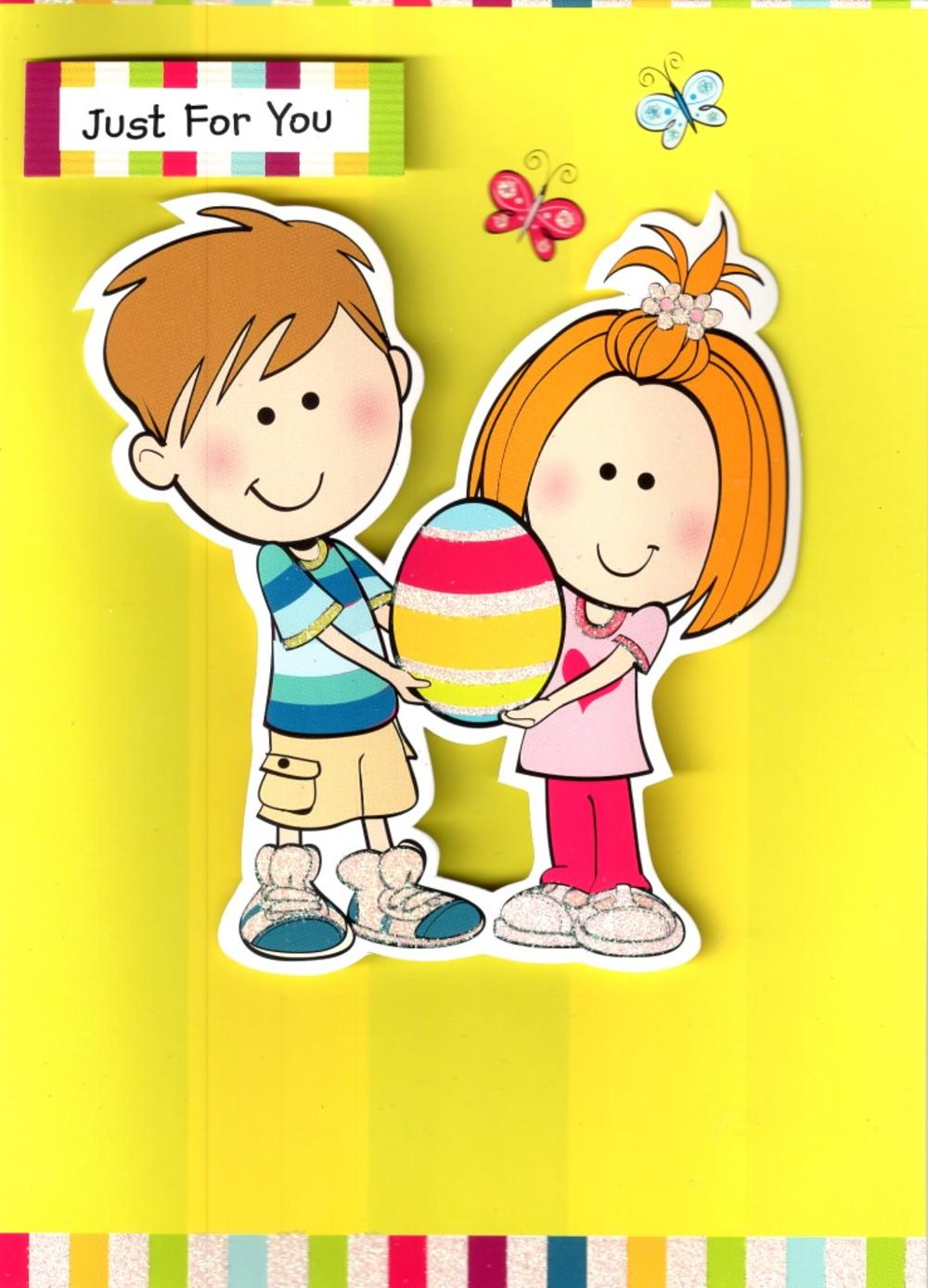 Just For You Easter Egg Card