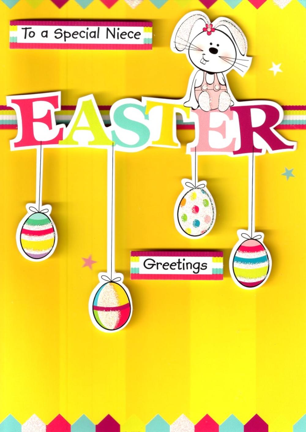 To A Special Niece Easter Greetings Cute Card