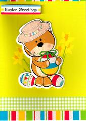 Easter Greetings Cute Teddy Kids Easter Card
