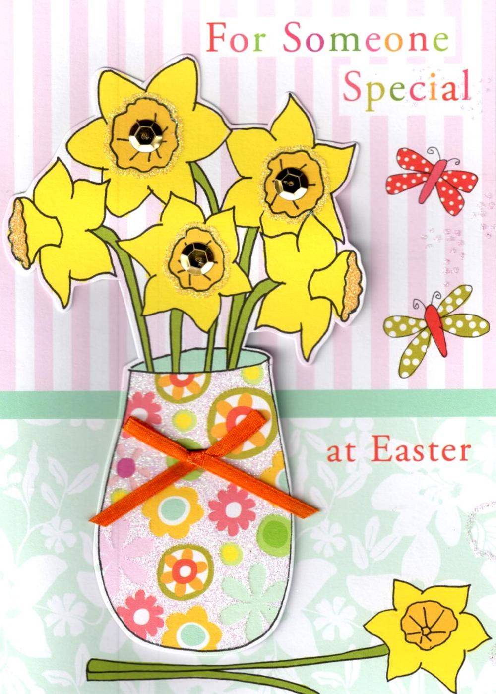 Someone Special At Easter Daffodils Card