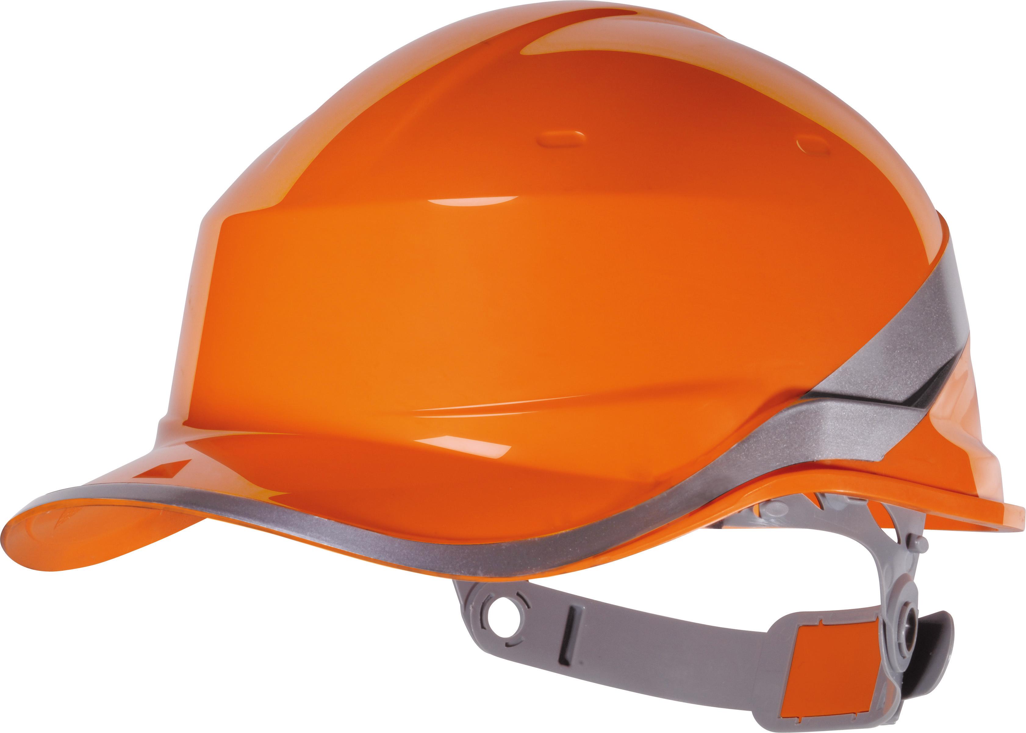 Delta Plus Diamond Hard Hat Safety Helmet Orange Hi Viz