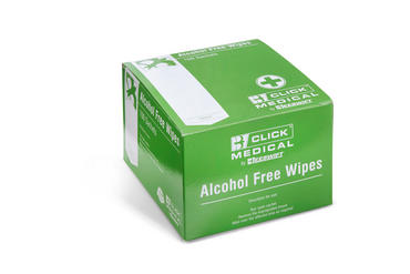 Click Medical Alcohol Free Wipes Pack of 100