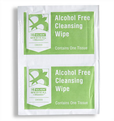 Click Medical Alcohol Free Wipes Pack of 100  Thumbnail 2