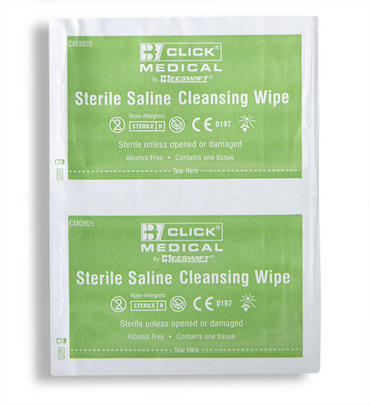 Click Medical Saline Wipes 100 Pack  Thumbnail 2