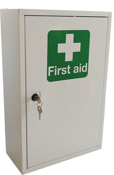 Click Medical Single Door Metal First Aid Cabinet