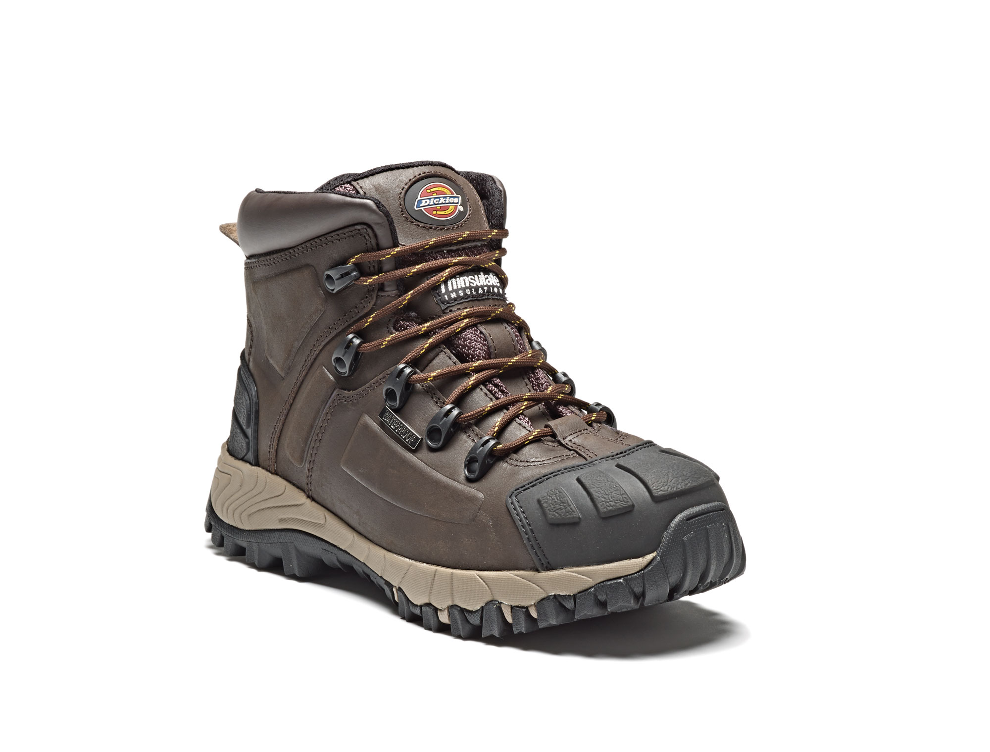 6f55950dca8 Details about Dickies Medway S3 Safety Work Boots Brown Steel Toecap &  Midsole Waterproof