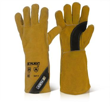 B Flex Premium Gold Welders Gloves