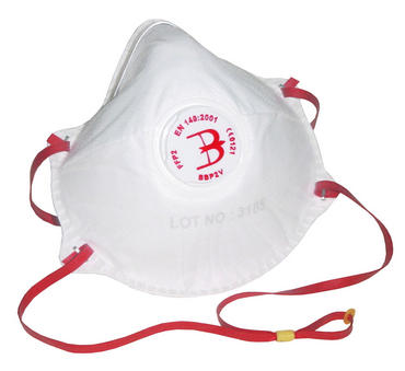 B Brand Disposable Respirator Dust Masks P2V 10 Pack