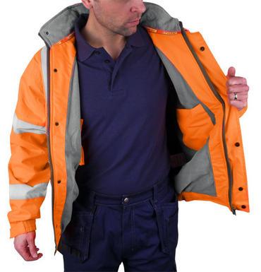 Hi Viz Fleece Lined Bomber Jacket