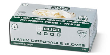Click Latex Powder Free Disposable Gloves 100 Pack  Thumbnail 2