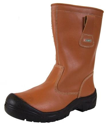 Click Lined Scuff Cap Rigger Work Boots