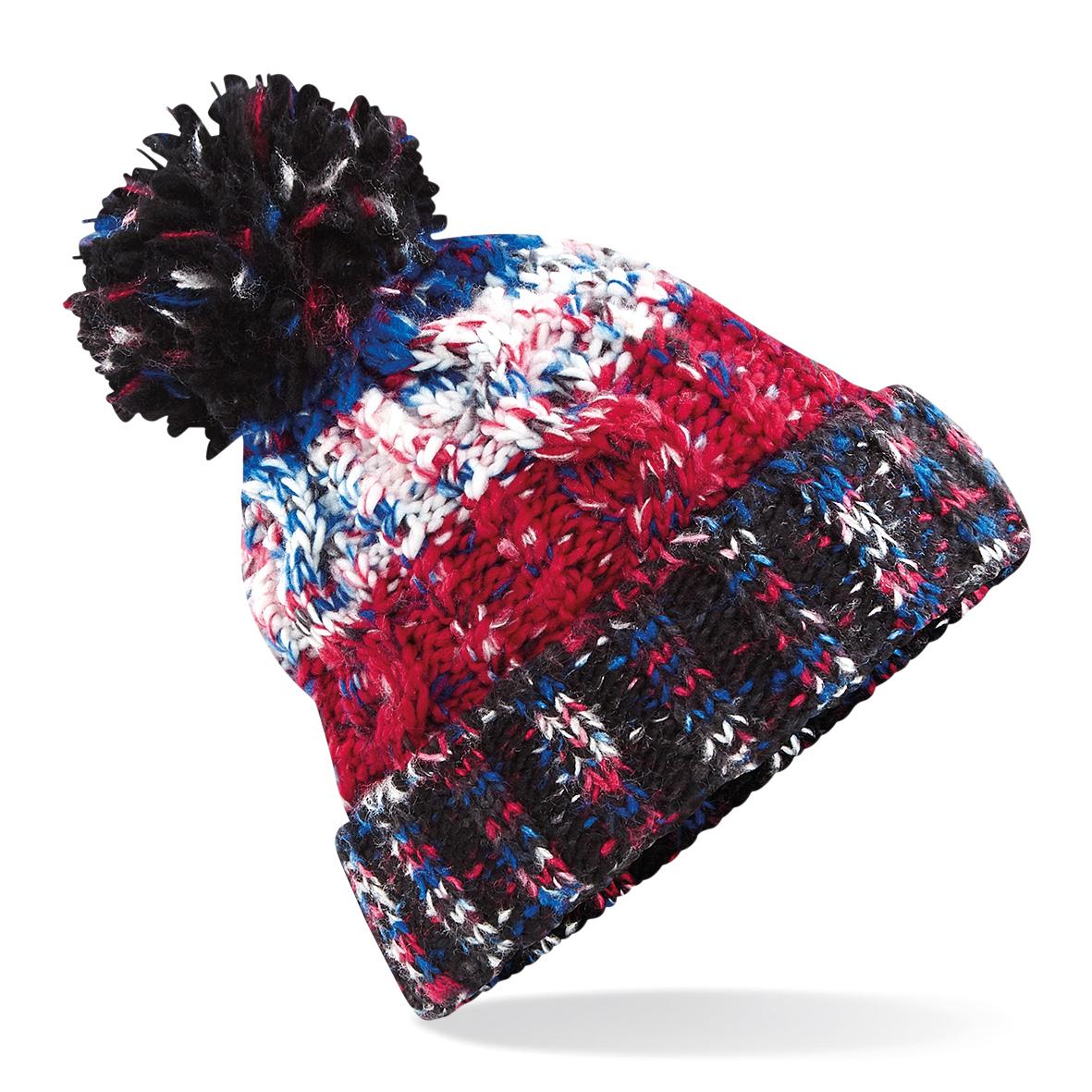 f4334762d9 Knitted Corkscrew Beanie Bobble Hat