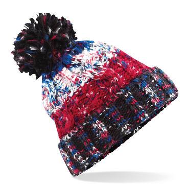 Knitted Corkscrew Beanie Bobble Hat Thumbnail 2