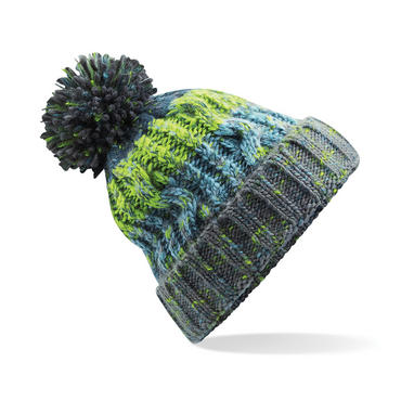 Knitted Corkscrew Beanie Bobble Hat Thumbnail 3