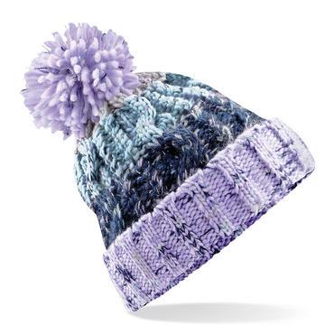 Knitted Corkscrew Beanie Bobble Hat Thumbnail 4