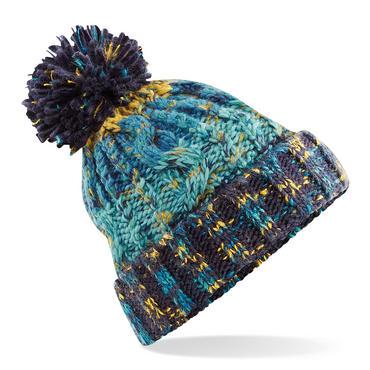 Knitted Corkscrew Beanie Bobble Hat Thumbnail 5