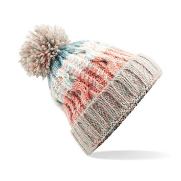 Knitted Corkscrew Beanie Bobble Hat Thumbnail 6