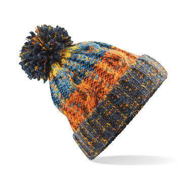Knitted Corkscrew Beanie Bobble Hat Thumbnail 7