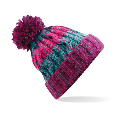 Knitted Corkscrew Beanie Bobble Hat Thumbnail 8