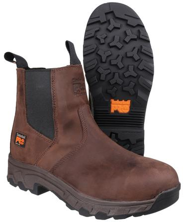 Timberland Pro Workstead Safety Dealer Boots Brown Thumbnail 4