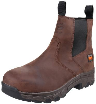 Timberland Pro Workstead Safety Dealer Boots Brown Thumbnail 6
