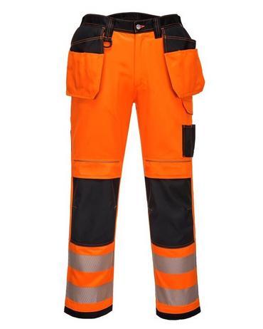 Portwest T501 Vision Hi Viz Trousers Orange/Navy