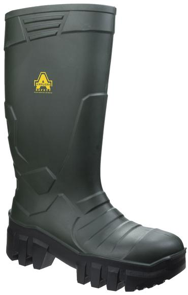 Amlbers Full Safety PU Welly Green  Thumbnail 2
